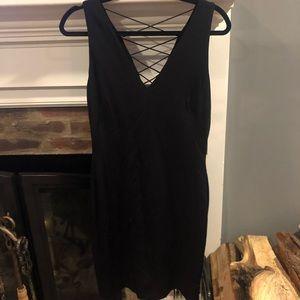 Lauren by Ralph Lauren women's black fitted dress